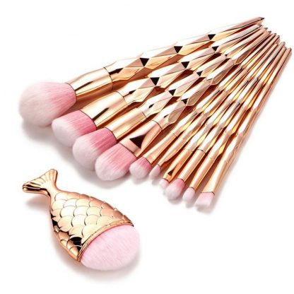 11Pcs-Diamond-Rose-Gold-Makeup-Brushes-Set-Mermaid-Fishtail-Shaped-Foundation-Powder-Cosmetics-Brush-Rainbow-Eyeshadow_11