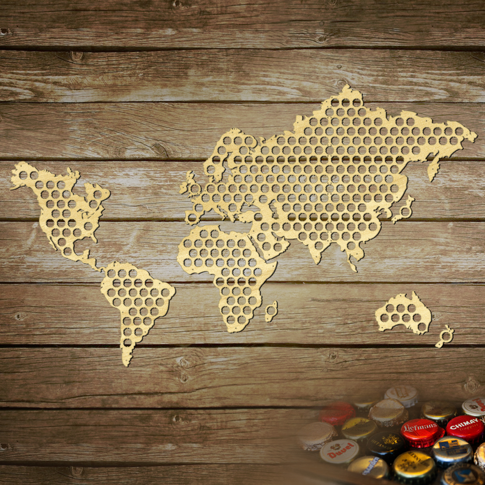 World Beer Bottle Cap Collector PineAppleMood Buy Gifts For - Germany beer cap map