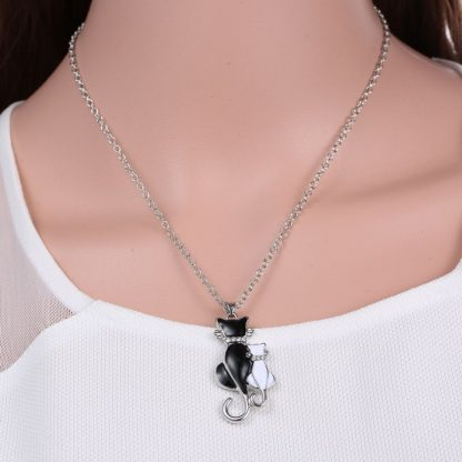 Animal-cat-Pendant-Necklace-Jewelry-white-black-cat-couple-necklace-For-women-men-lovers-Jewelry-Valentine_14