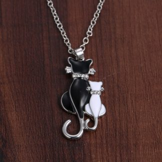Animal-cat-Pendant-Necklace-Jewelry-white-black-cat-couple-necklace-For-women-men-lovers-Jewelry-Valentine_15