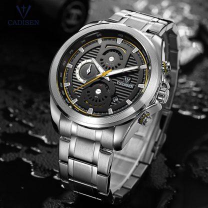 Cadisen-Men-s-Chronograph-Analogue-Quartz-Wristwatches-Stainless-Steel-Band-Classic-Business-Watch-for-Man-Luminous_16