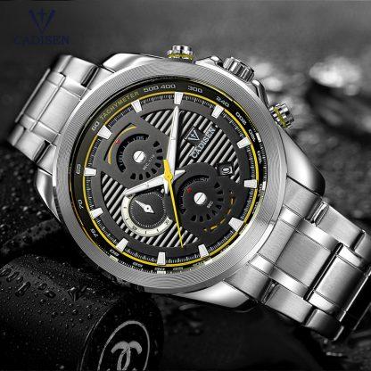 Cadisen-Men-s-Chronograph-Analogue-Quartz-Wristwatches-Stainless-Steel-Band-Classic-Business-Watch-for-Man-Luminous_20