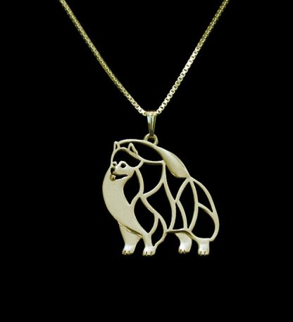 Gold-silver-1pcs-Pomeranian-Necklace-Cut-Out-Dainty-Pendant-Puppy-Dog-Lover-Memorial-Pet-Necklaces-Pendants_15
