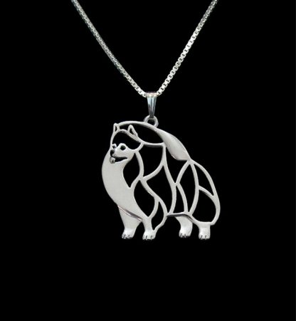 Gold-silver-1pcs-Pomeranian-Necklace-Cut-Out-Dainty-Pendant-Puppy-Dog-Lover-Memorial-Pet-Necklaces-Pendants_16