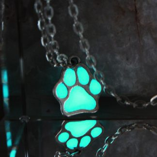 NEW-Luminous-Necklace-Dog-lovers-The-cat-dog-paw-The-bear-s-paw-Necklace-GLOW-in_7
