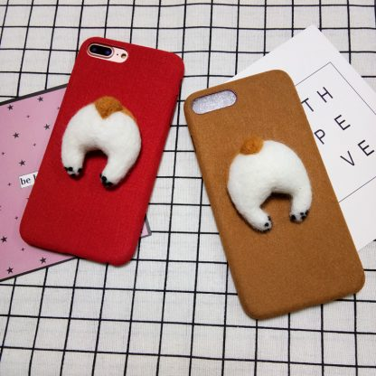 corgi-handmake-Needle-Wool-felt-cute-cat-dog-butt-ass-cover-for-apple-iphone-6-6s_29