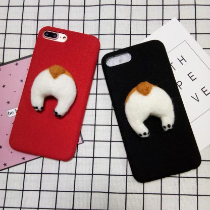 corgi-handmake-Needle-Wool-felt-cute-cat-dog-butt-ass-cover-for-apple-iphone-6-6s_30