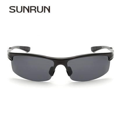SUNRUN Men Driving Sunglasses Aluminum Frame Polarized Sunglasses Car Drivers Night Vision Goggles Anti-glare Sun Glasses P8213 4
