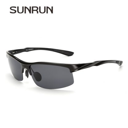 SUNRUN Men Driving Sunglasses Aluminum Frame Polarized Sunglasses Car Drivers Night Vision Goggles Anti-glare Sun Glasses P8213 1