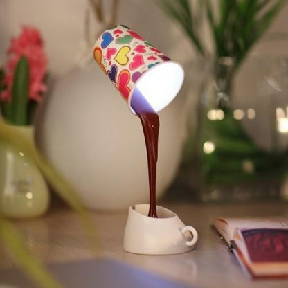 Table DIY Reading Lamp Eye Protection Desk Lamps Peculiar LED Nightlight Coffee Pour Light With USB Battery Reading Lightings