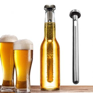 Bar Tool Stainless Steel Beer Chiller Stick With Pourer Beer Beverage Cooling Rod Cooler Beer Beverage Frozen Stick Ice Cooler