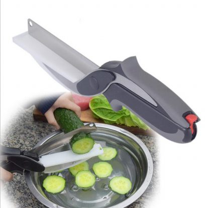 Smart Multi-Function Clever Scissors Cutter 2 in 1 Cutting Board utility cutter Stainless Steel Ourdoor Smart Vegetable Knife 2