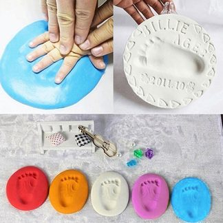Creative Gift Baby Air Drying Soft Clay Handprint Footprint Imprint Hand Inkpad Casting
