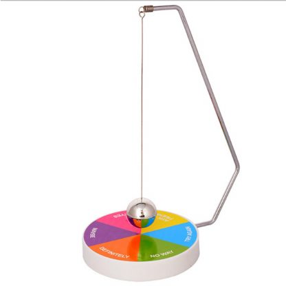 Decision Maker Ball Baby Kids Boys Creative Decision Maker Pendulum Dynamic Desk Toy Plastic + Metal Ball Toy Gift 2