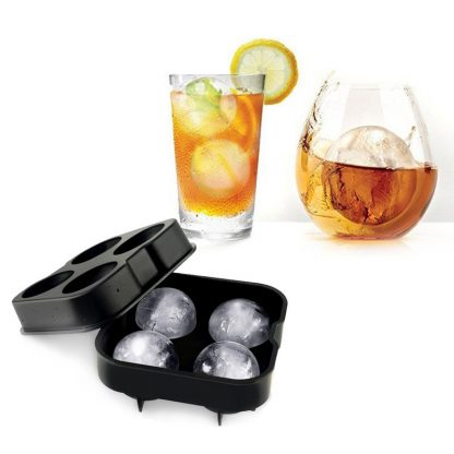 Ice Cube Mold Maker Whiskey Cocktail DIY Ice Mold 4/6 Holes Ball Sphere Silicone Ice Cream Tools