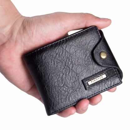 Small wallet men multifunction purse men wallets with coin pocket zipper men leather wallet male famous brand money bag 1